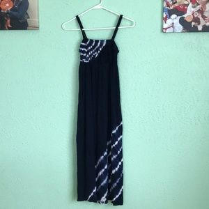 Girl's Justice Navy Blue Tie Dyer Maxi Dress